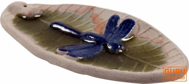 Keramik Räucherstäbchenhalter `Libelle` - Modell 11