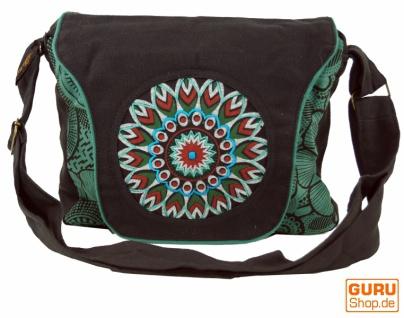 Schultertasche, Hippie Tasche, Goa Tasche, Umhängetasche, Handtasche - schwarz/blau