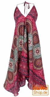 Boho Sommerkleid, Magic Dress, Maxikleid, Nackholder Strandkleid - bordeauxrot