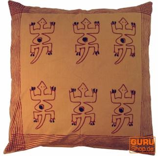 XL Kissenbezug Blockdruck, Kissenhülle Ethno, Dekokissen Bezug mit traditionellem Design - Muster 11