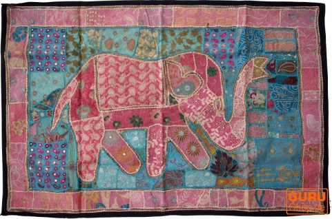 Indischer Wandteppich Patchwork Wandbehang, Einzelstück 150*100 cm - Muster 62