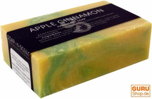 Handgemachte Duftseife, 100 g Fair Trade - Apfel-Zimt