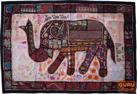 Indischer Wandteppich Patchwork Wandbehang, Einzelstück 150*100 cm - Muster 39