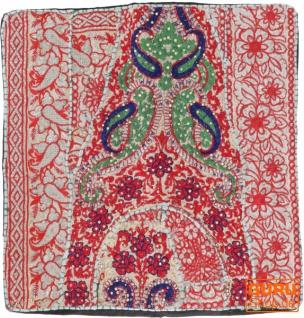 Patchwork Kissenhülle, Dekokissen Bezug aus Rajasthan, Einzelstück - Muster 32