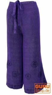 Palazzohose, langer Boho Hosenrock, Wickelhose, Sommerhose violett - Modell 5