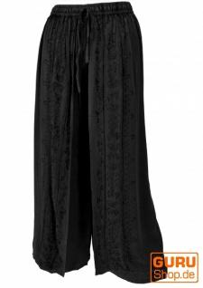 Palazzohose, langer Boho Hosenrock, Orienthose, Sommerhose - schwarz