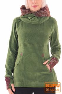 Pullover mit Kapuze / Chapati Design - green
