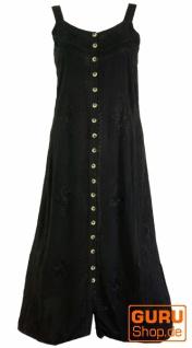 Besticktes Boho Sommerkleid, indisches Hippie Trägerkleid, schwarz - Design 18