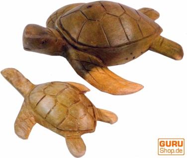 Geschnitzte Deko Schildkröte in 2 Größen