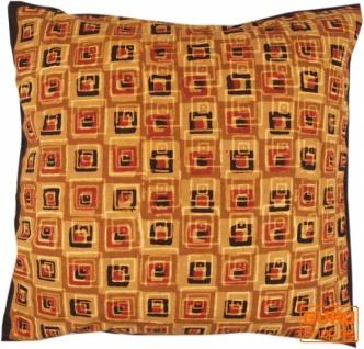 Kissenbezug Blockdruck, Dekokissen Bezug, Kissenhülle Ethno, Traditionelle Herstellung - Muster 23