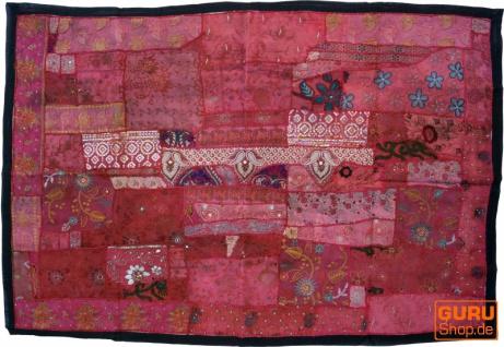 Indischer Wandteppich Patchwork Wandbehang, Einzelstück 150*100 cm - Muster 24