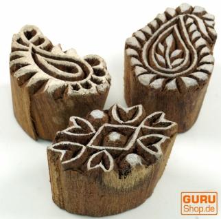 Indischer Textilstempel, Stoffdruckstempel, Blaudruck Stempel, Holz Model - Set 13