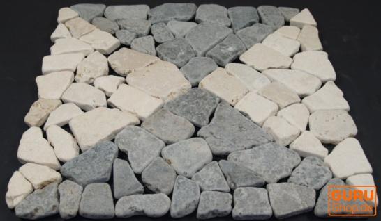 Mosaikfliese mit Quadraten aus Marmor (Mo-05) - Design 16 - Vorschau 2