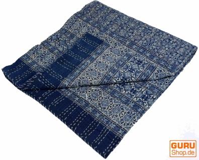 Quilt, Steppdecke, Tagesdecke Bettüberwurf, Besticktes Tuch, Indischer Bettüberwurf, Tagesdecke - Muster 33