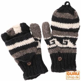 Handschuhe, handgestrickte Klapphandschuhe, Fingerhandschuhe - Modell 1