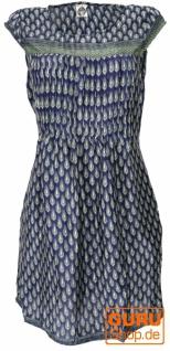 Minikleid Boho Style, schlichtes Sommerkleid - Paisley marine