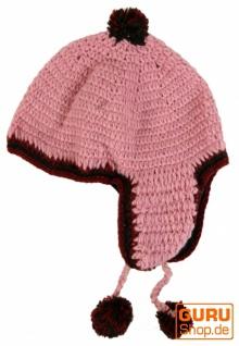 Mütze Mütze Mütze mit Ohrenklappen - rosa 3c3c97