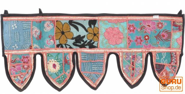 Orientalischer Wandbehang, indischer Toran, Wimpel Wandteppich, Wanddekoration, Tür Deko Einzelstück 85*35 cm - Design 1