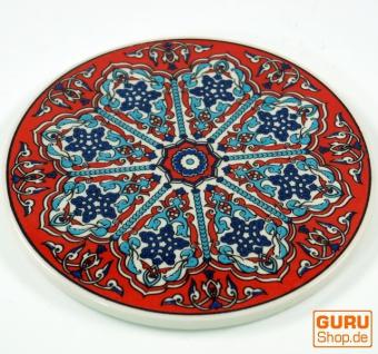 Orientalischer Keramikuntersetzer, runder Untersetzer mit Mandala Motiv - Muster 2