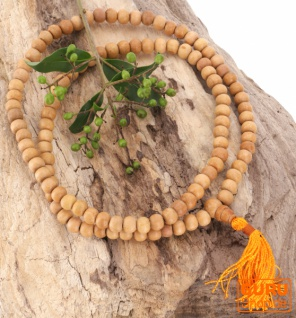Tibetische Mala, buddhistische Gebetskette aus Holzperlen - Modell 2