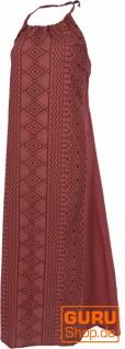 Natürliches Neckholderkleid, Boho Sommerkleid, Maxikleid - rost