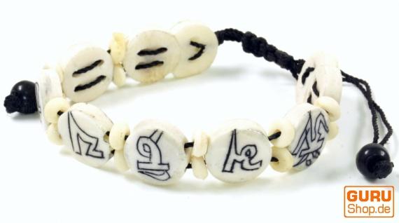 Buddhistisches Armband Mantra - weiß Modell 1