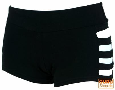 Goa Pantys, Psytrance Hotpants, Shorts - schwarz