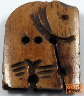 Tibet Knopf aus Horn - 14
