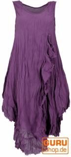 Boho Sommerkleid, luftiges Krinkelkleid, Maxikleid, Strandkleid - flieder