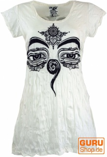Sure Long Shirt, Minikleid Buddhas Augen - weiß