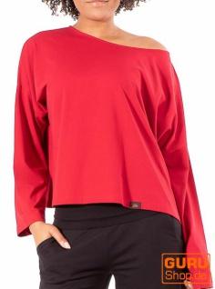 Pullover, Langarmshirt aus Bio-Baumwolle / Chapati Design - burgundy