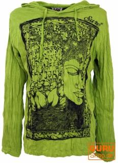 Sure Langarmshirt, Kapuzenshirt Mantra Buddha - lemon