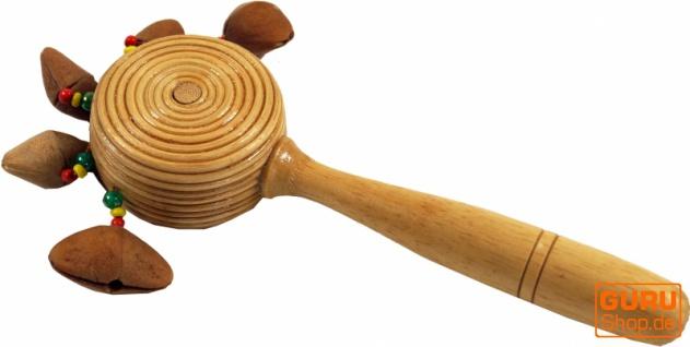 Musikinstrument aus Holz, Musik Percussion Rhythmus Klang Instrument, handgearbeitet, Stabrassel, Nutshaker - Handrassel 9