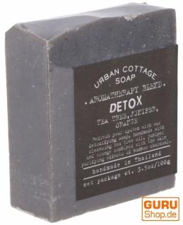Handgemachte Aromatherapie Duftseife DETOX, 100 g, Fair Trade - Teebaum-Wacholder-Orange