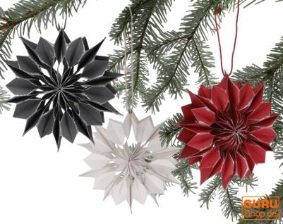 3`er Set Weihnachtsschmuck, Weihnachts Deko aus Wabenpapier - Schneeflocke