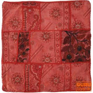 Patchwork Kissenhülle, Dekokissen Bezug aus Rajasthan, Einzelstück - Muster 34