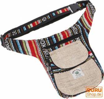 Hanf Ethno Sidebag, Nepal Gürteltasche - Modell 4