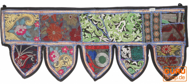 Orientalischer Wandbehang, indischer Toran, Wimpel Wandteppich, Wanddekoration, Tür Deko Einzelstück 90*35 cm - Design 23