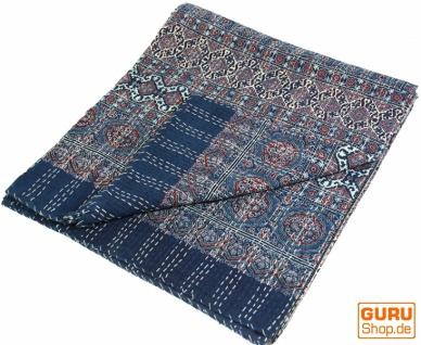 Quilt, Steppdecke, Tagesdecke Bettüberwurf, Besticktes Tuch, Indischer Bettüberwurf, Tagesdecke - Muster 24