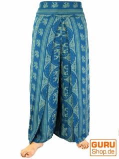 Palazzohose, weite Sommerhose - türkisblau