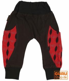 Haremshose Pluderhose Pumphose Aladinhose für Kinder - rot