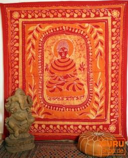 Wandtuch, Hippie , Boho Batikbild Wandbehang, indischeTagesdecke - Buddha 1