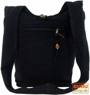 Sadhu Bag, Goa Tasche, Schulterbeutel - schwarz