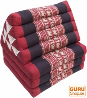 Thaikissen, Dreieckskissen, Kapok, Tagesbett mit 3 Auflagen - Elefant rot/schwarz