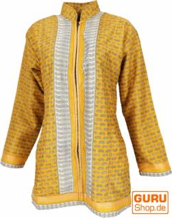 Indische Boho Seidenbrokat Jacke, Sareeseide Mantel, Einzelstück - Modell 13