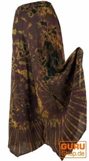 Farbenfroher Batik Hosenrock - braun
