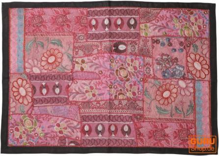 Indischer Wandteppich Patchwork Wandbehang, Einzelstück 90*65 cm - Muster 22