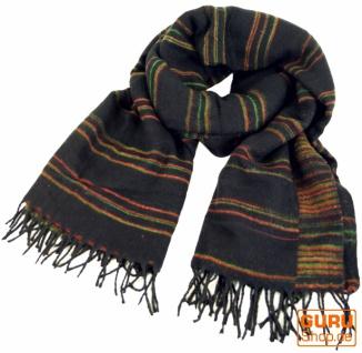 Weicher Goa Schal, großes Schultertuch, indischer Schal/Stola - schwarz