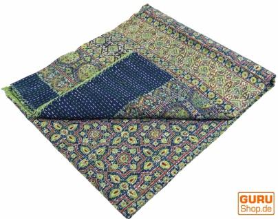 Quilt, Steppdecke, Tagesdecke Bettüberwurf, Besticktes Tuch, Indischer Bettüberwurf, Tagesdecke - Muster 26