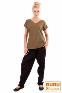 T-Shirt aus Bio-Baumwolle / Chapati Design - olive - Vorschau 2